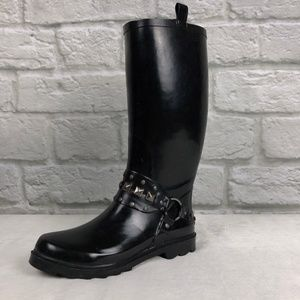 Capelli Black Harness Rain Boots